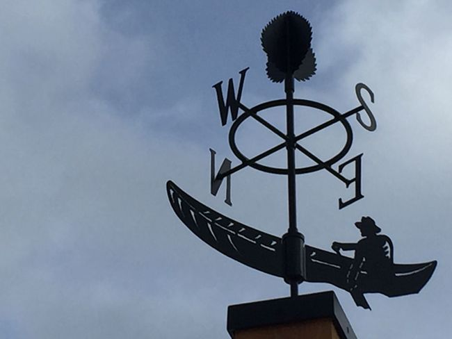 Direction Wind Vane Lost North South East West North South East West Canoe Canoeist Paddle