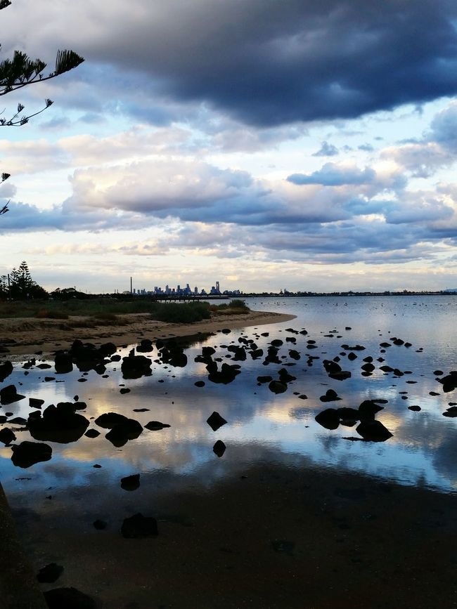 Melbourne City Beach Evening