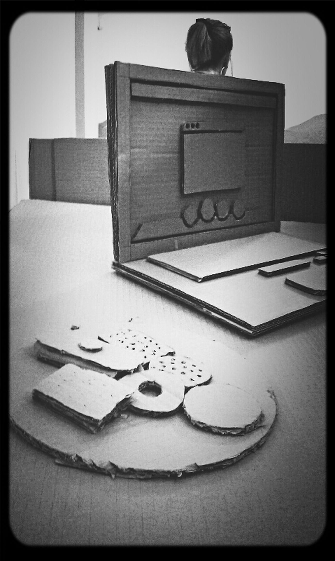 Cardboard Art Cockies Imac