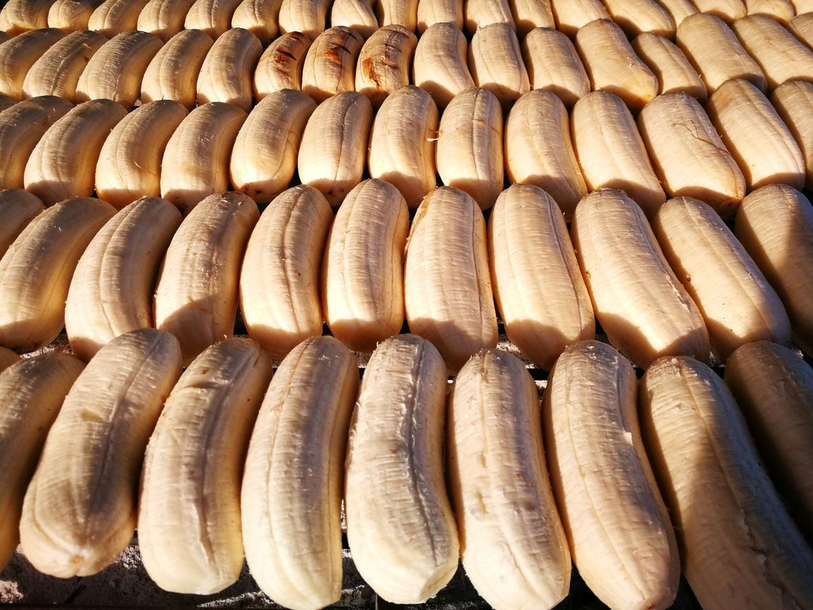 Food Healthy Eating Freshness Large Group Of Objects Retail  Market Backgrounds Close-up Streetfood Fleamarket Banana Roasted Banana Grilled Banana