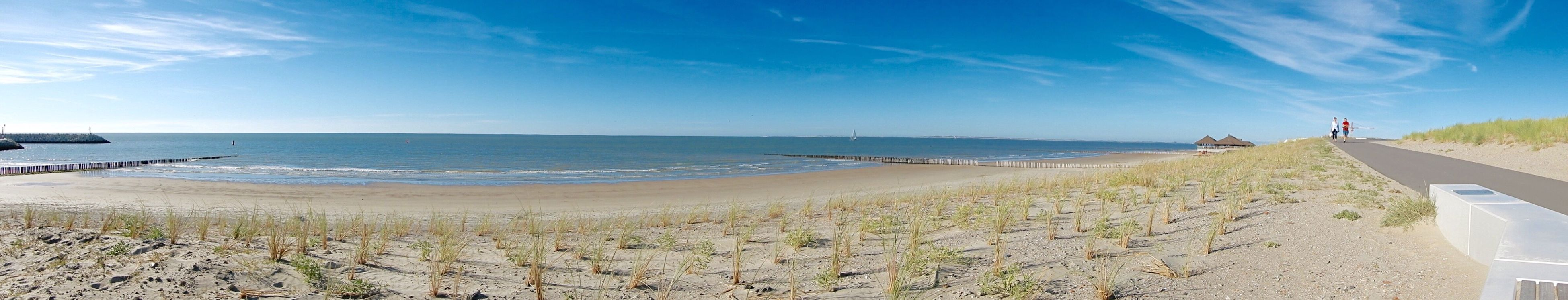 Strand Cadzand-bad Holland Sea Beach Sand Horizon Over Water Nature Beauty In Nature Scenics Tranquil Scene Water Tranquility Sky Day Outdoors Vacations Blue Real People Marram Grass Men Fish-eye Lens One Person Holland Landscape Holiday Wide Angle Panorama
