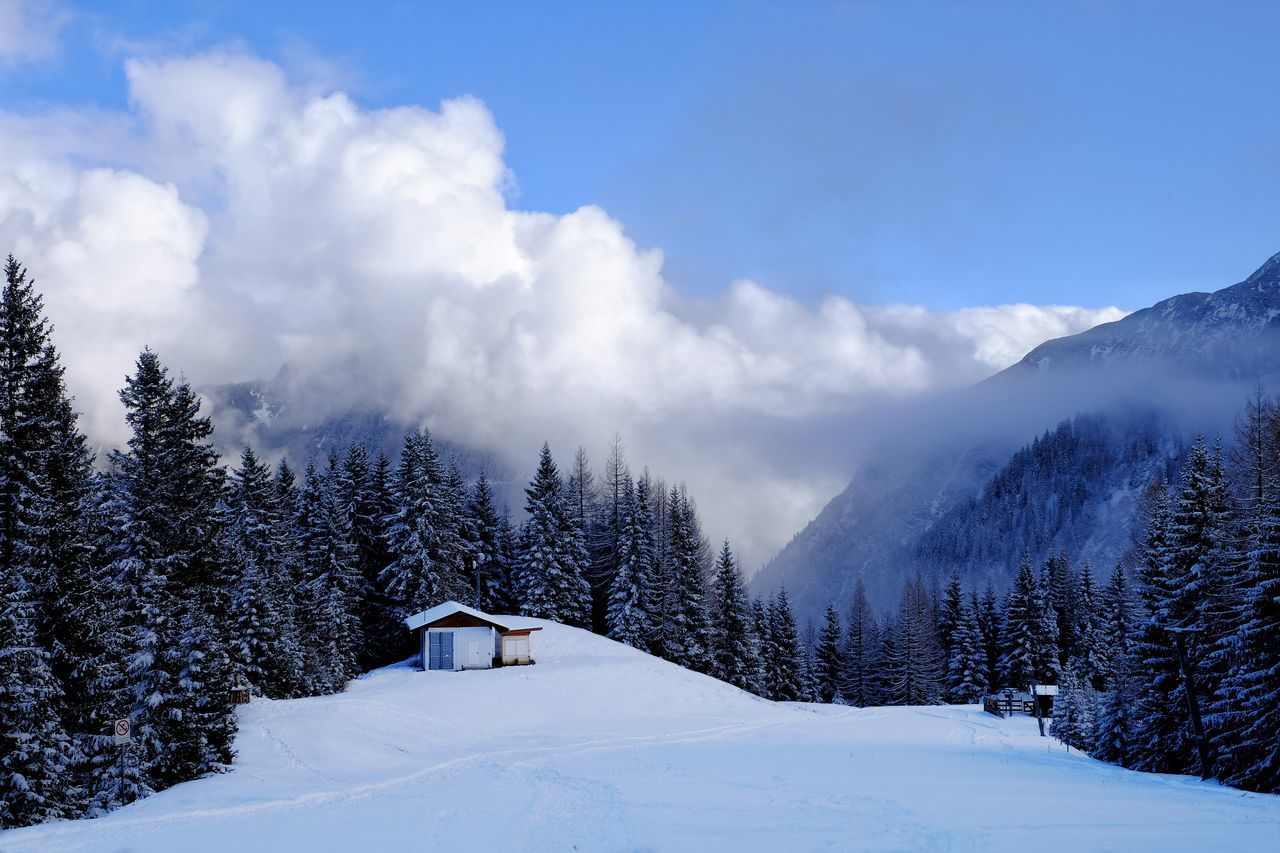 Beautiful stock photos of danke, Beauty In Nature, Cloud - Sky, Cold Temperature, Cottage