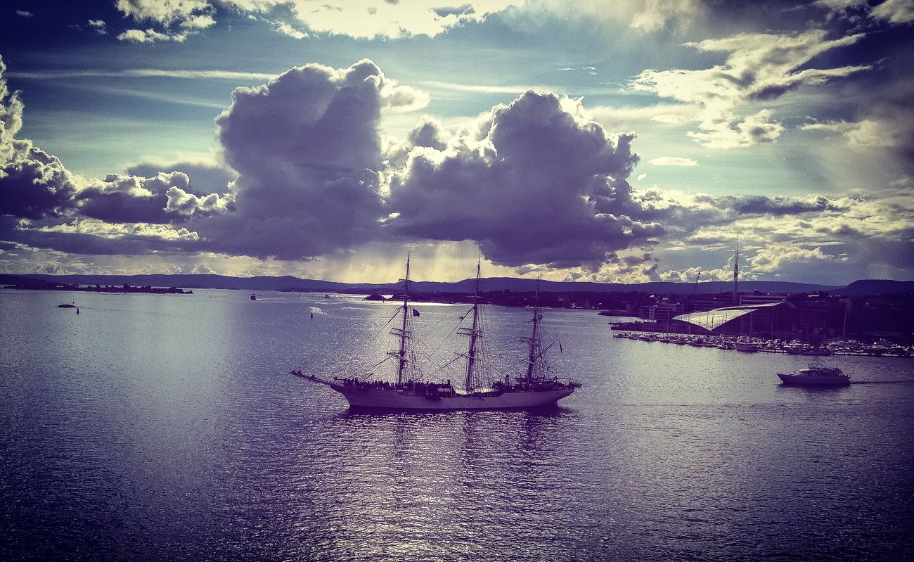 Oslo Norway Scandinavia Nautical Vessel Cloud - Sky Transportation Mode Of Transport Outdoors Beauty In Nature Sailing No People Castle View  Scenics City Travel Destinations Travel Photography