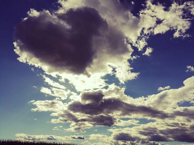 Sky Clouds No Edit/no Filter Blue Sky Big Clouds Day Slovenia