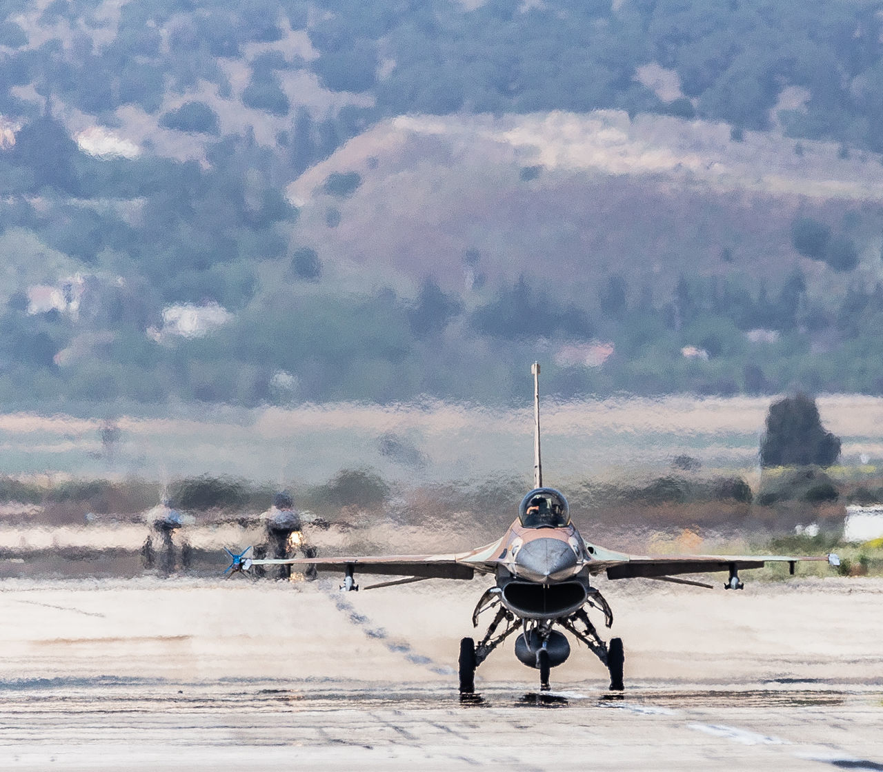 Aviation Blue Sky F-16 Fighting Falcon Flight General Dynamics IAF Israeli Air Force Nature Outdoors Runway Sand Sky Taxiing Transportation