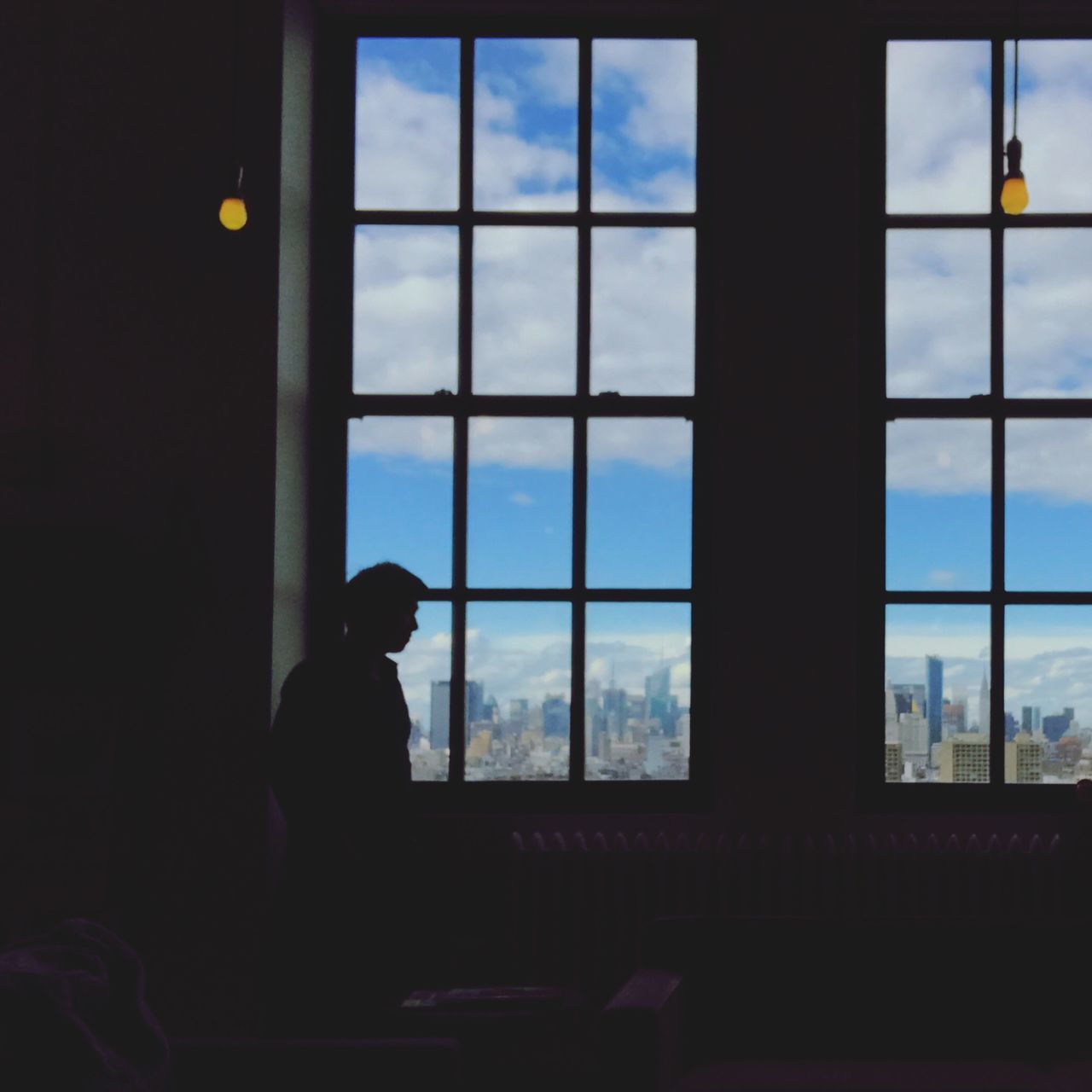 The other side of shadow Window One Person Silhouette Looking Through Window Day Sky Creative Photography Creative Light And Shadow Photography New York Light And Shadow Silouette & Sky Cityscape Photographing Photography Themes Silhouette
