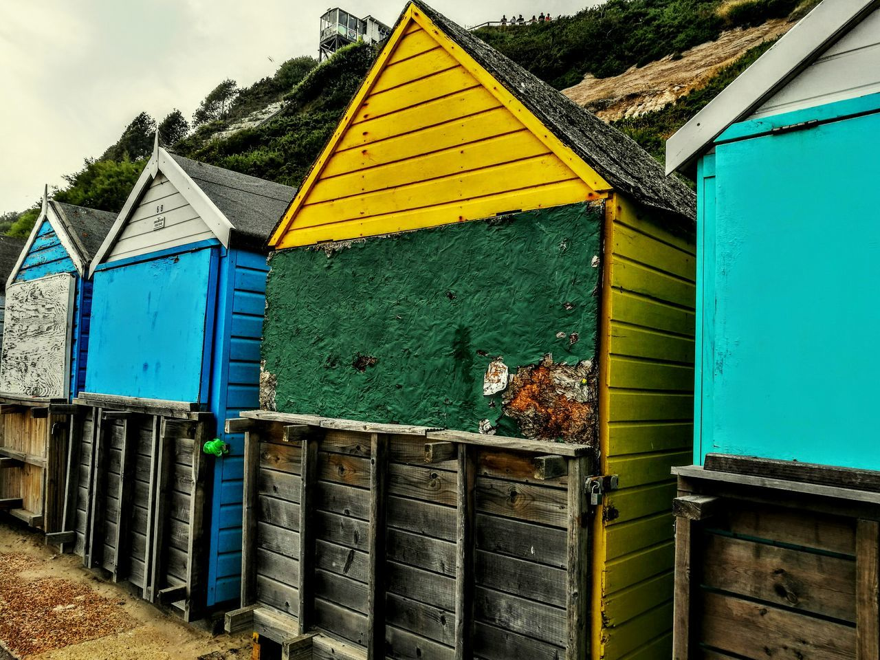 Beach Huts Colours And Patterns Wood Art Beach Photography Summer Memories 🌄 Holiday Season In The Making Good Old Times Holiday Trip My Kind Of Art Love ♥ HuaweiP9