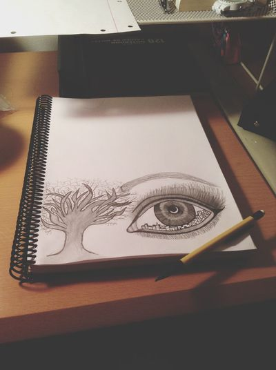 Drawing Beautiful Eyes and Trees ??