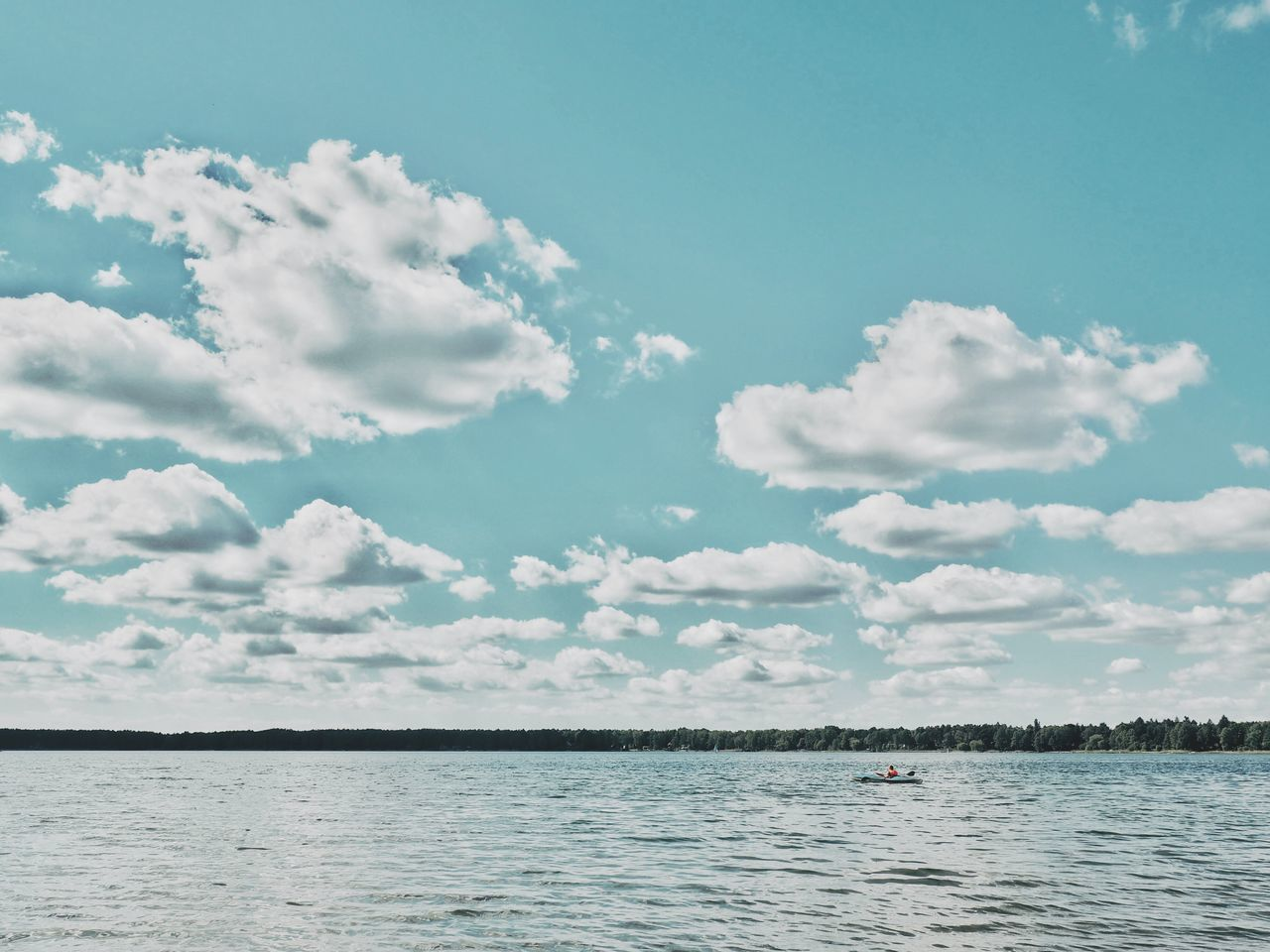 Kanu See Wandlitz Wandlitzsee Brandenburg One Man Only Alone On The Water Lake Canoe Canoeing One Person Beauty In Nature Sky Beach Scenics Day Tranquility Nature Cloud - Sky Outdoors Alone In Nature Water Nature_collection Dramatic Sky