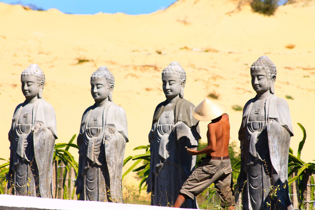 Mui Ne, Vietnam Vietnam Outdoors Travel Photography Man Painting Statues Buddha Statues Day People People At Work Eastern Religion Religious Idol Culture And Tradition Preparing For An Event Travel Eyeem Philippines