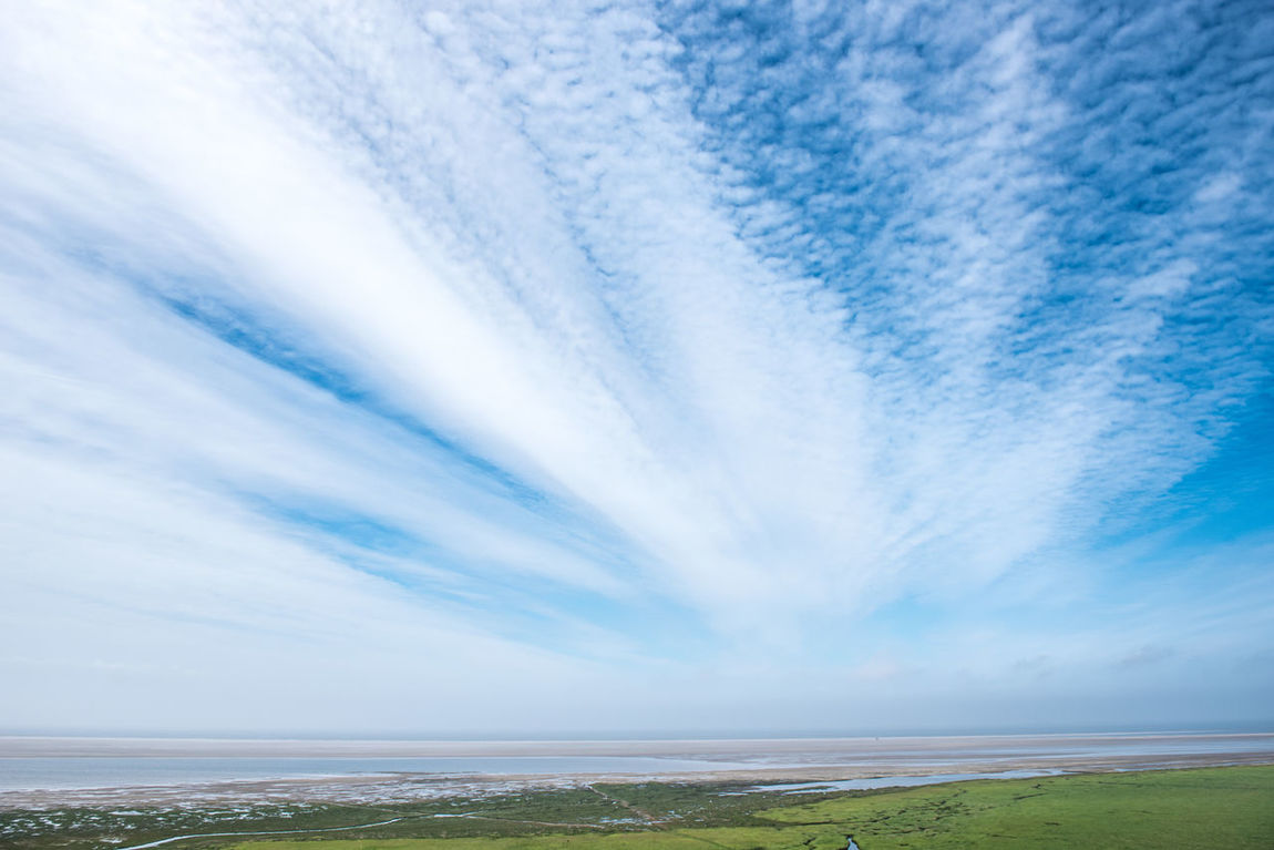 Beach Beauty In Nature Blue Clouds And Sky Day Horizon Over Water Nature No People Outdoors Salzwiesen Scenics Sea Sky Tranquil Scene Tranquility Water Wide Angle Weltnaturerbe Wattenmeer World Heritage Site By UNESCO Wadden Sea Sommergefühle