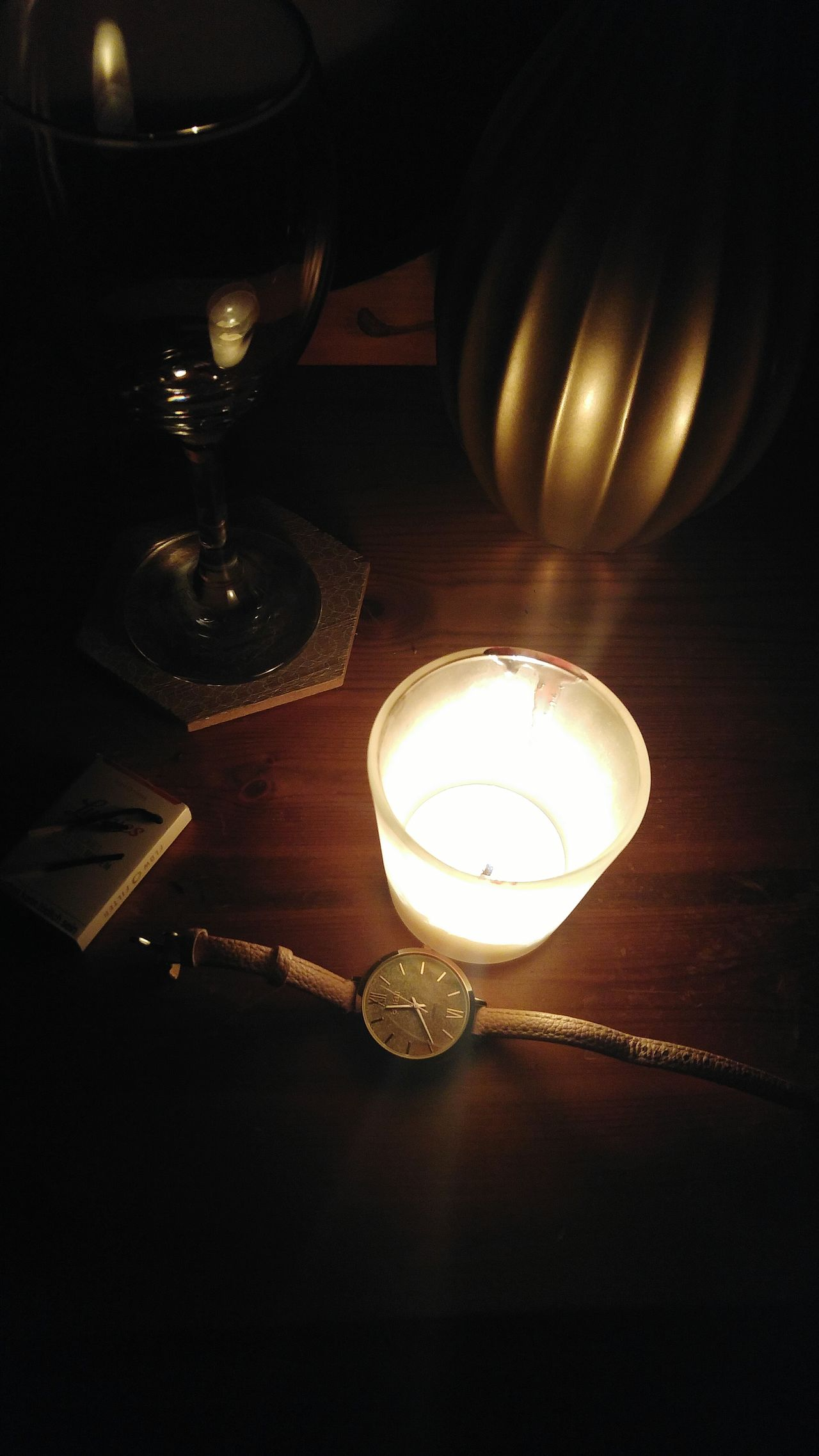 Time There's Always Time Illuminated Warmth Candle Light Candle Darkness And Light Night Indoors  Burning Wood Matchsticks Watch Wineglass Glass Wax Reminiscing Passing By Passing Time Illuminated 3XSPUnity