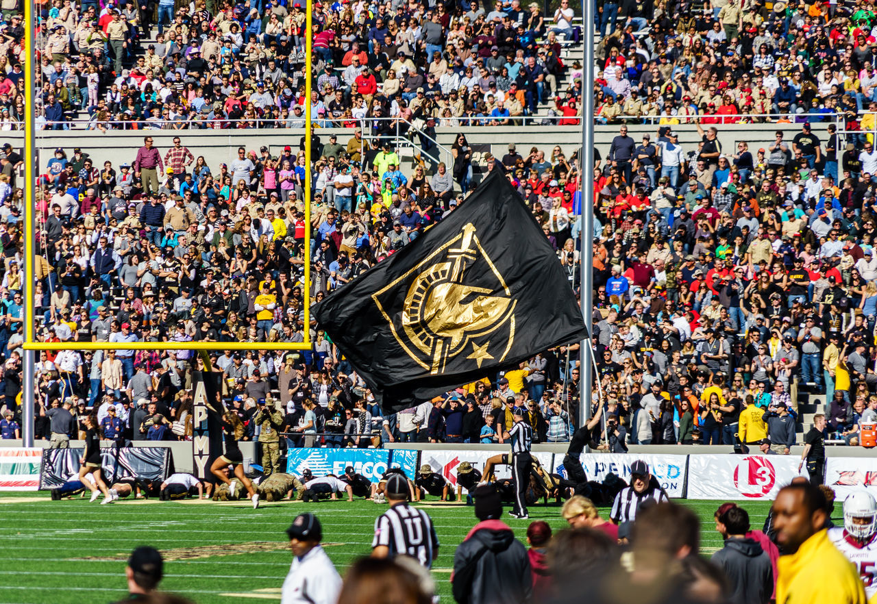 Adult American American Military Academy Army Black Knights College Crowd Day Fame Fan - Enthusiast Football Horizontal Lafayette Large Group Of People Match - Sport Outdoors People Person Soldier Spectator Sport Sports Event  Stadium USA Westpoint