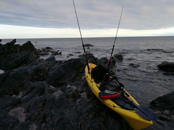 Aberdeenshire Portsoy kayak Fishing kayak fishing Shoreline Paint The Town Yellow