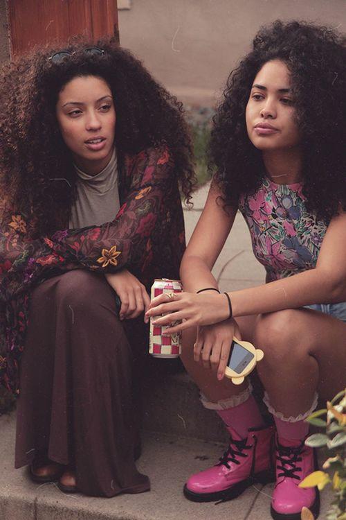 Christina Santini and Asia Dee Model Fashion Curly Hair Natural Hair Urban Fashion Street Fashion Models Gorgeous