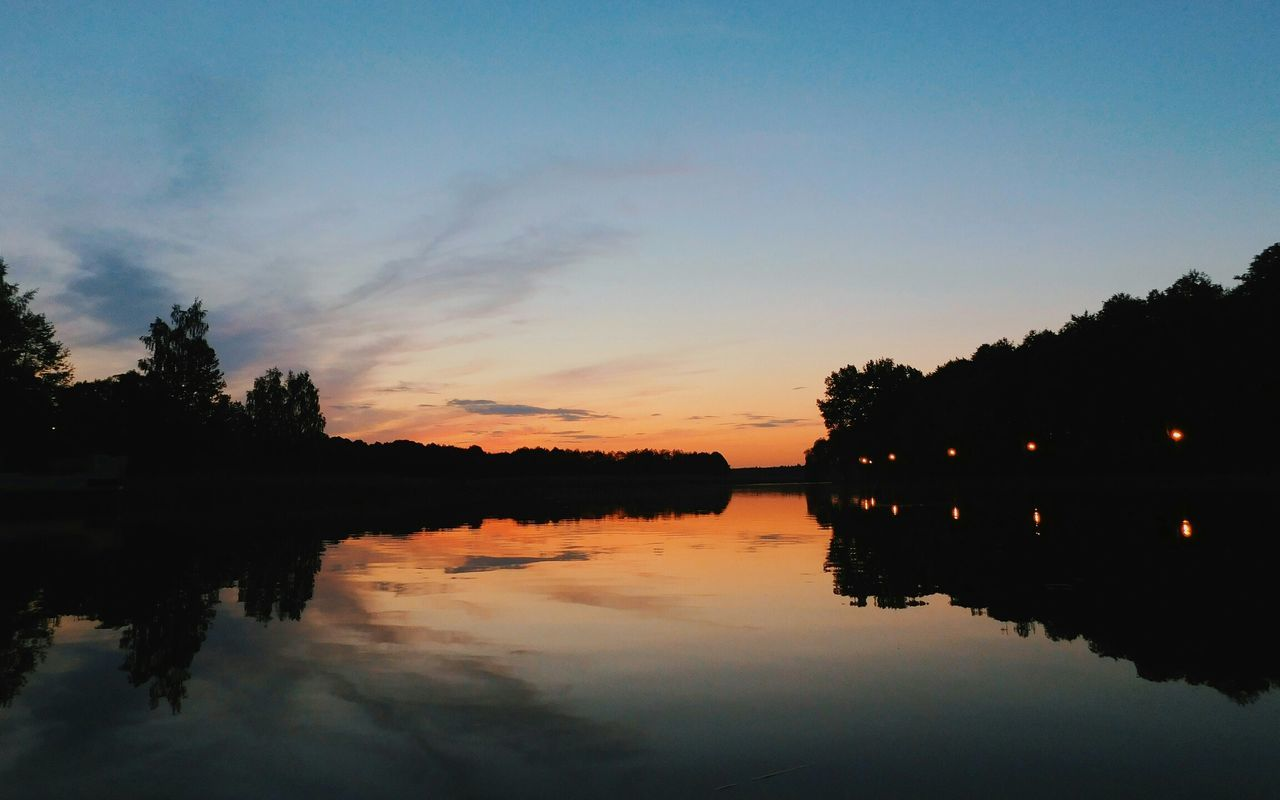 Rzeka Netta w wieczornych barwach River Netta Nature Landscape EyeEm Nature Lover Landscape_photography Water Reflections Sky And Clouds Nature Photography Sunset Silhouettes