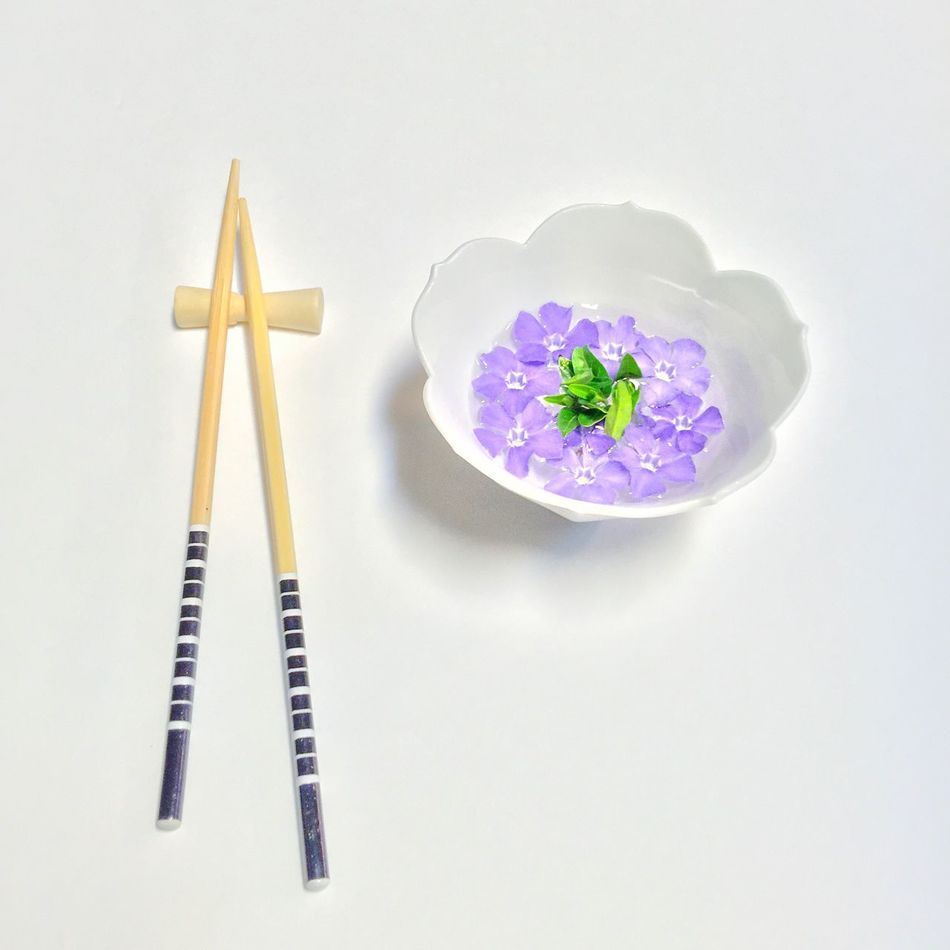 Two Is Better Than One Flower Food Chopsticks Purple Flowers Flower Head Asian  Still Life Flower Soup Soup Fine Art Simplicity Minimalism No People Eating Food Foodporn Food Porn Edible Flowers Bowl Of Soup Purple Flower Lunch From My Point Of View Flowerporn Fine Art Photography EyeEm Masterclass