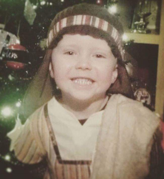 Nativity Shepherd. Cute Child Toddler  Dressup Shepherd Nativity Christmas