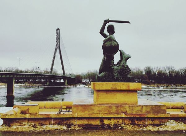 One of the mermaids in Warsaw, Poland, along the Wisła river. Warsaw Warszawa  Statue Sculpture Water Wisła River Mermaid Poland History EyeEmNewHere