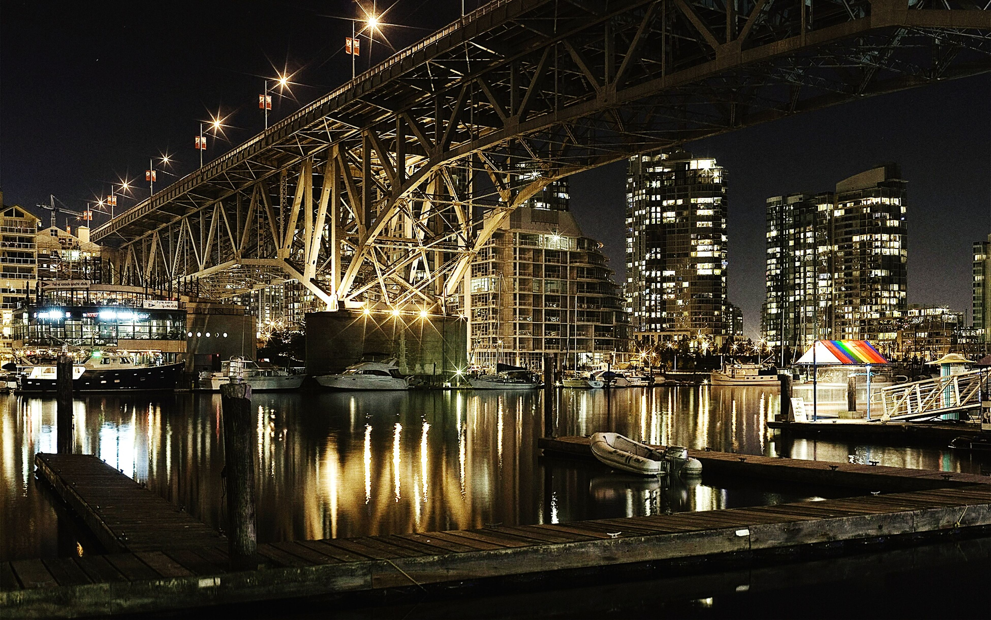built structure, night, architecture, illuminated, bridge - man made structure, water, connection, river, no people, reflection, building exterior, transportation, travel destinations, city, outdoors, sky, nautical vessel