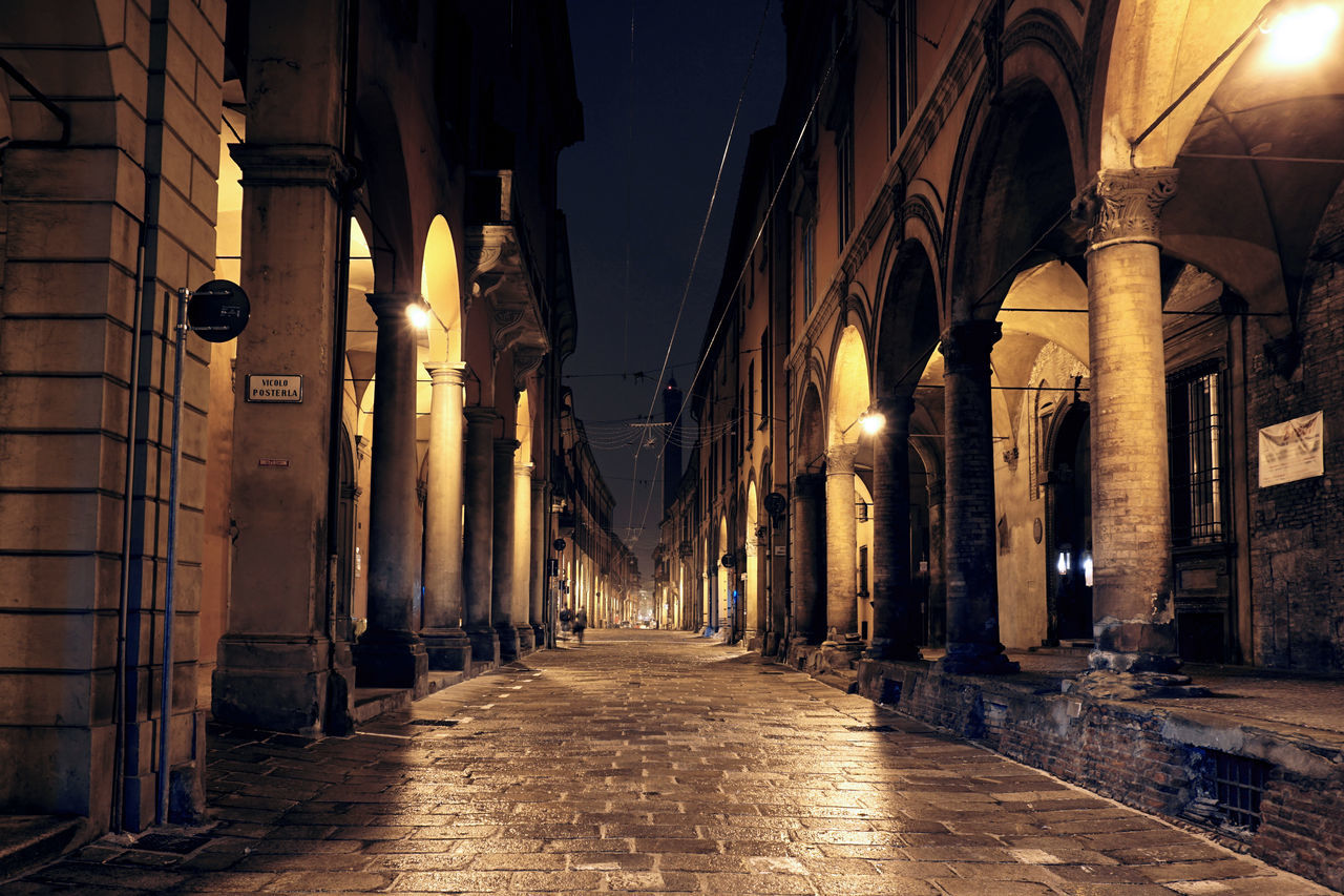 Arch Architectural Column Architecture Archway Built Structure Column Exterior History Narrow Old Perspective Strada Maggiore The Way Forward
