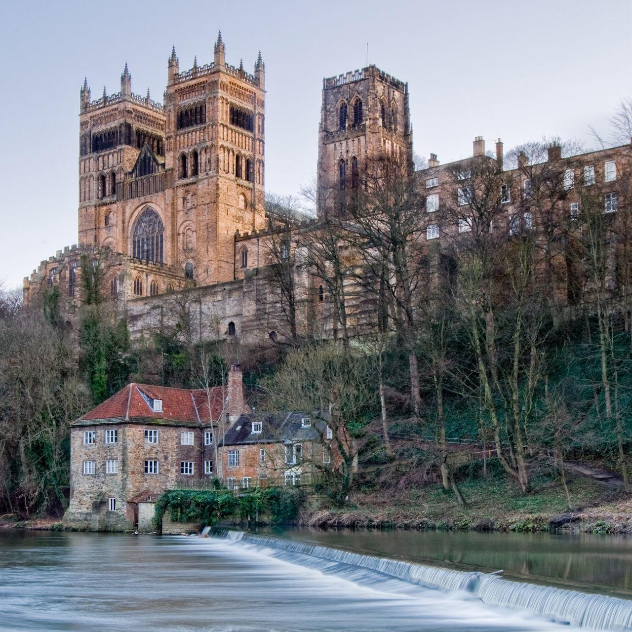 Durham City Durham Wear River River View Watermill Durham Cathedral DurhamCathedral