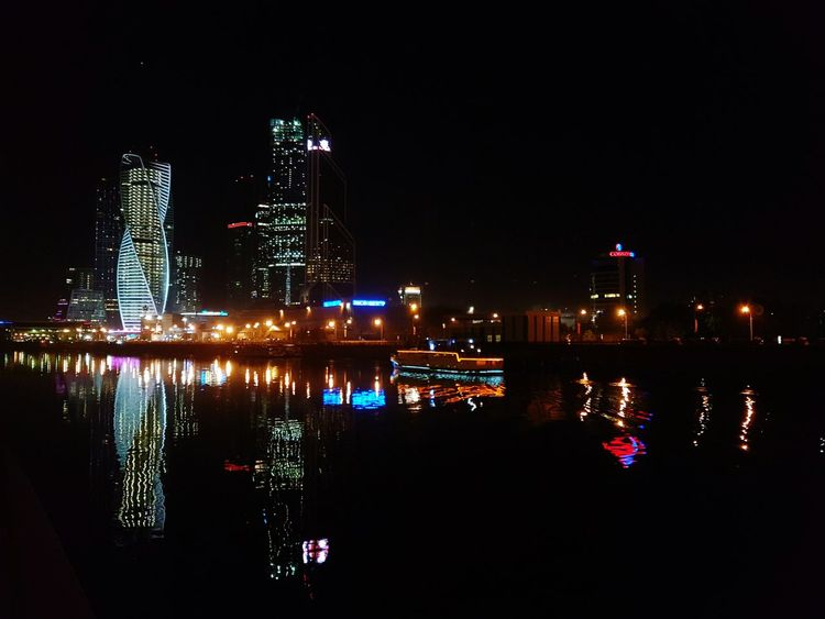 Cities At Night Moscow Moscow_City Moscownight Galaxys7