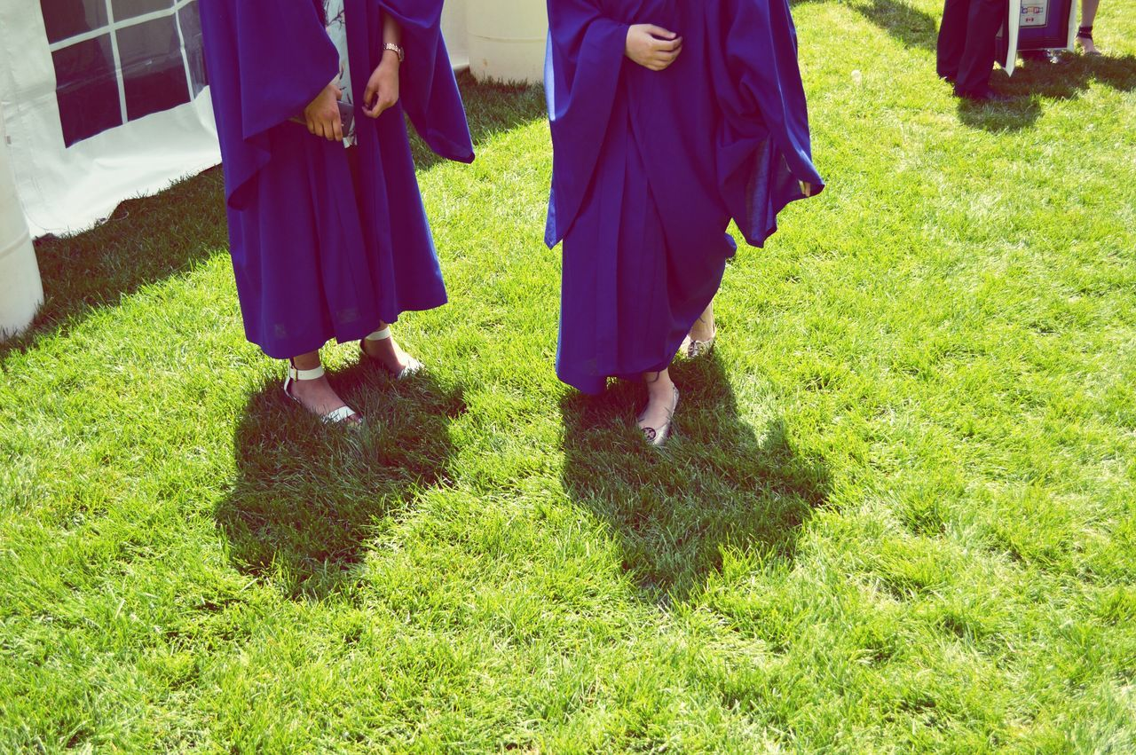 Graduated university today🎓🎉 here's to the next chapter of life! Graduation Graduation Ceremony Convocation Ryersonuniversity Graduate Alumni Regalia Gown Low Angle View Green Grass Shadow Achievement Feeling Accomplished Degree Nursingschool Education Milestones Finally Done The Color Of School