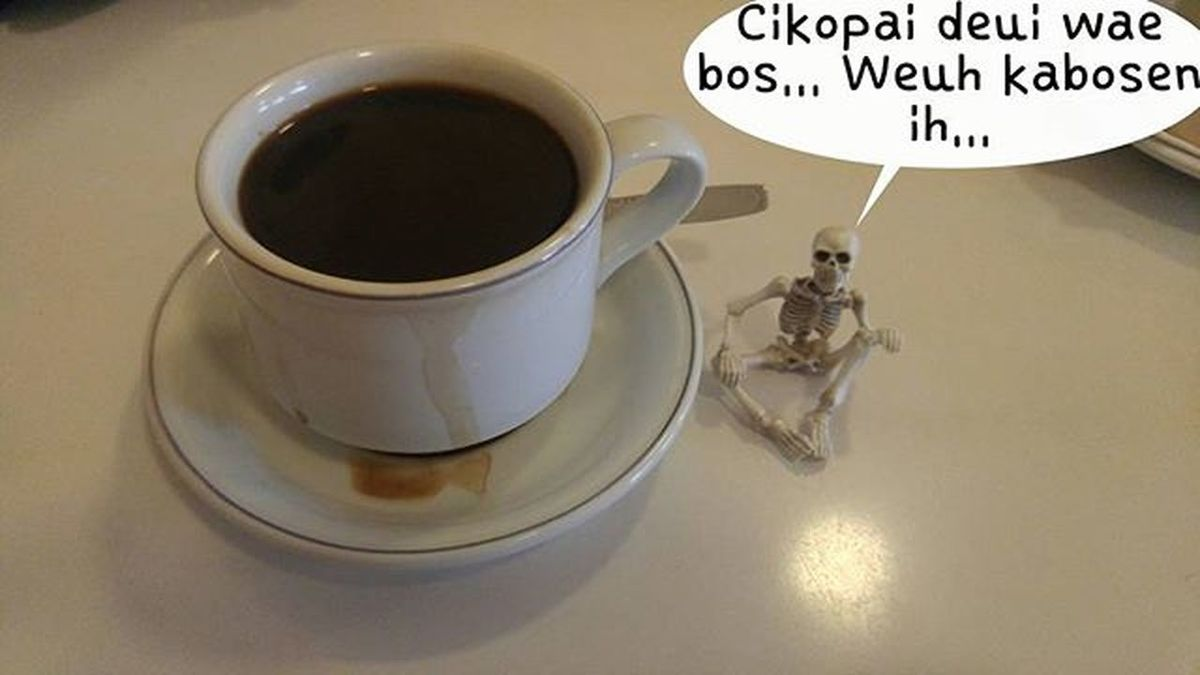 Coffee again bos? Aren't you tired of drinking coffee? Coffee Coffeetime Blackcoffee Coffeesesh Figure Toys Skeleton Rement Poseskeleton Val  2016 LG  G4 LGG4 ☕ 😚 ☠