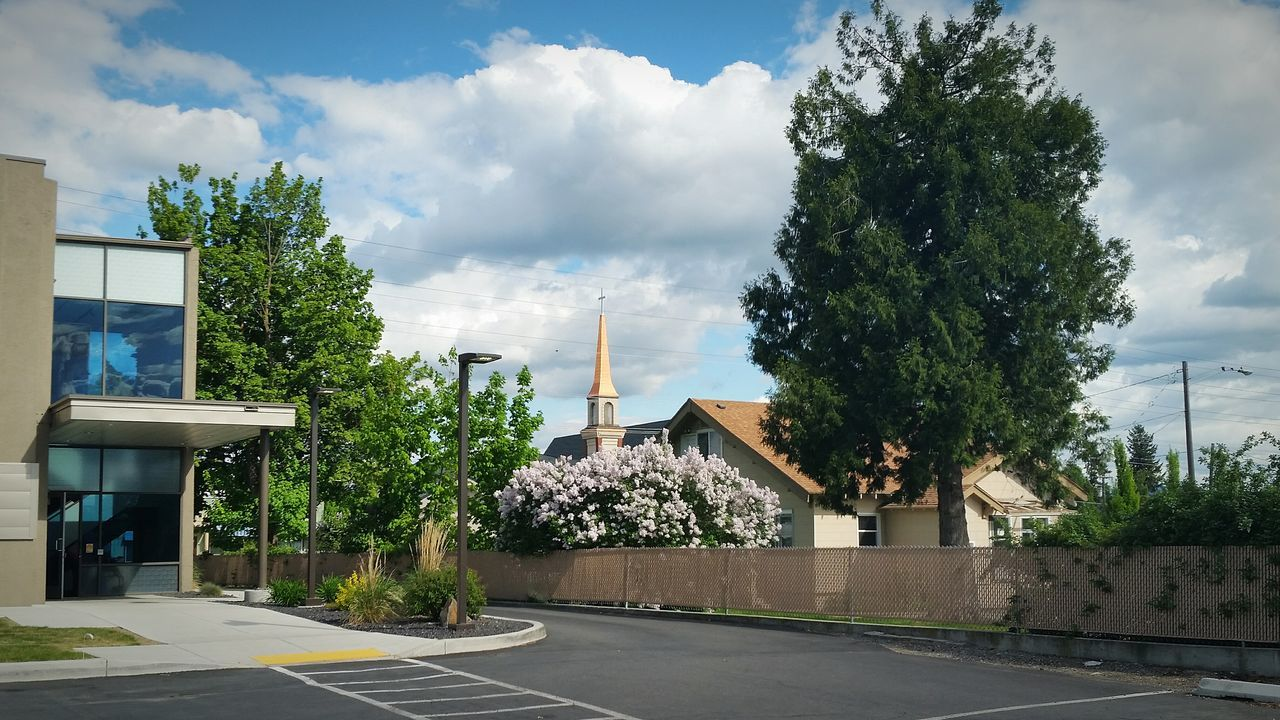 Takeing pictures outside docters office, Church Church Steeple Nature Taking Photos Nature_collection April 2016 Spring Eye4photography  Iart Sky Scape Spokane Valley Landscape_Collection Nature In The City thanks for checking ot out, from Adam O in The Essence Of Summer