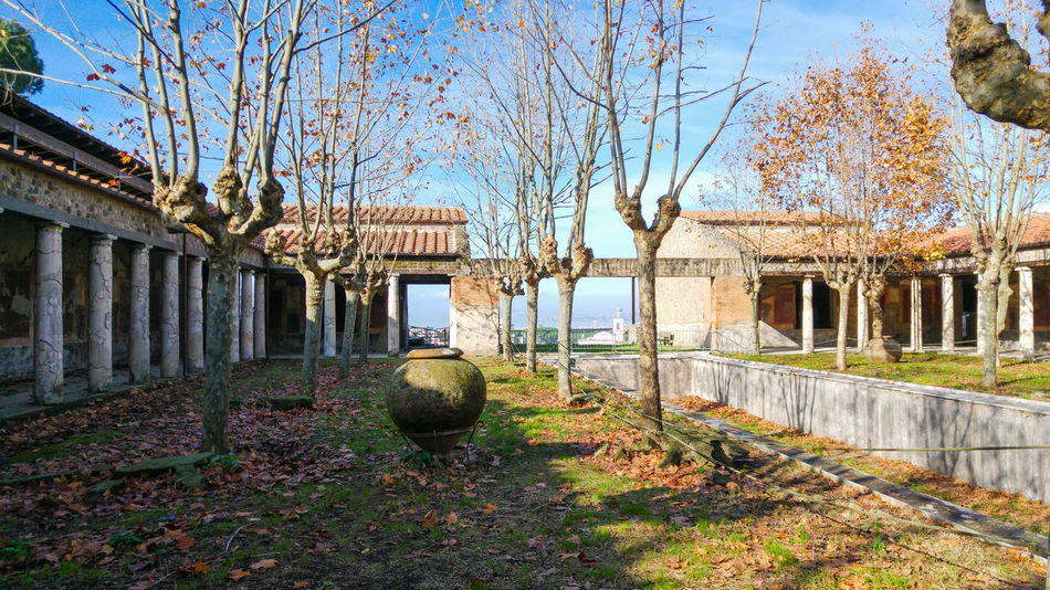 Ancient roman villa in Stabiae, bay of Naples, Italy Ancient Ancient Civilization Archeology Architecture Building Exterior Built Structure Day Garden Nature No People Outdoors Patio Roman Villa