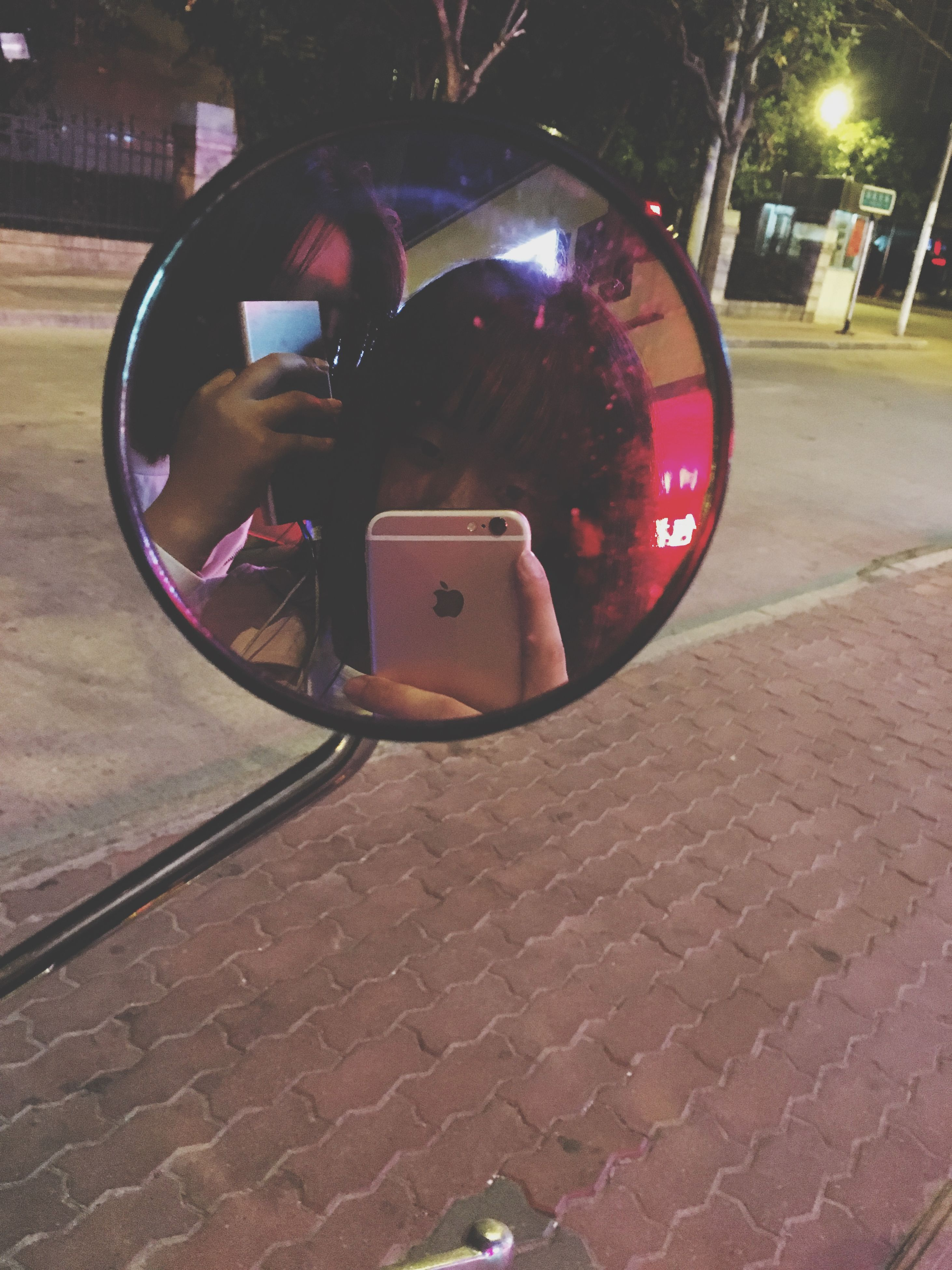 illuminated, night, transportation, land vehicle, street, red, car, lighting equipment, technology, close-up, mode of transport, no people, old-fashioned, high angle view, outdoors, retro styled, communication, road, still life