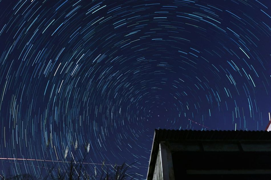 Beautiful stock photos of galaxy, night, star trail, star - space, long exposure