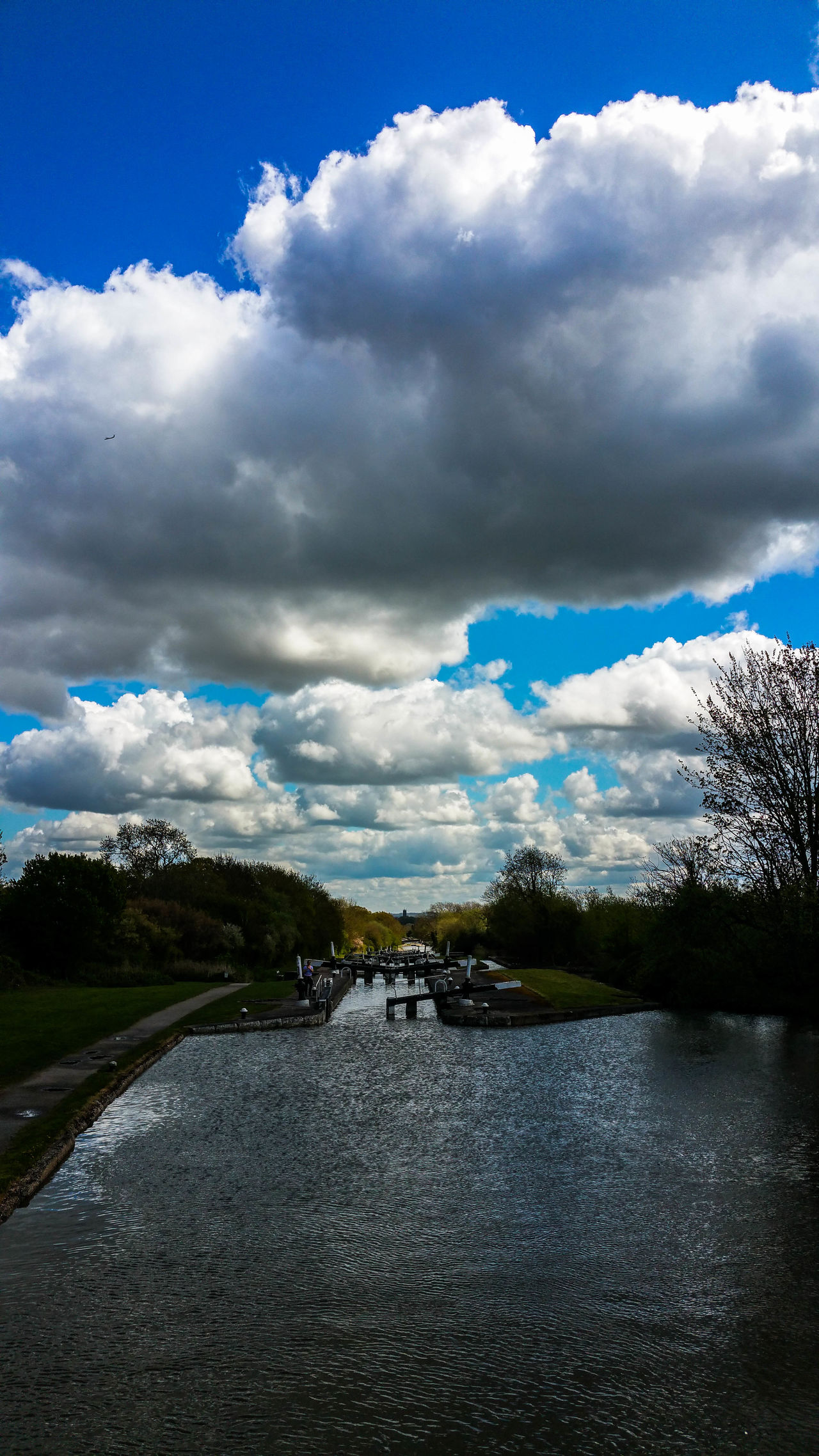 Blue Canal Canal Adventure Canals And Waterways Cloud Cloud - Sky Cloudy Locks Nature No People River Sky Tranquil Scene Water