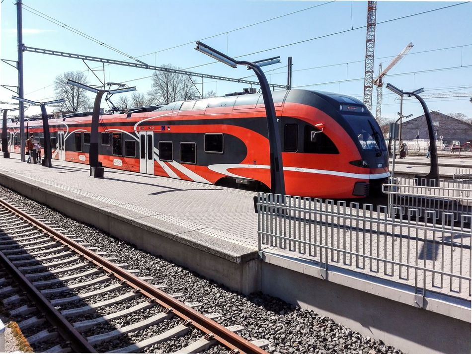 Elron Trains. Tallinn, Estonia. Elron Train Train Station Estonia
