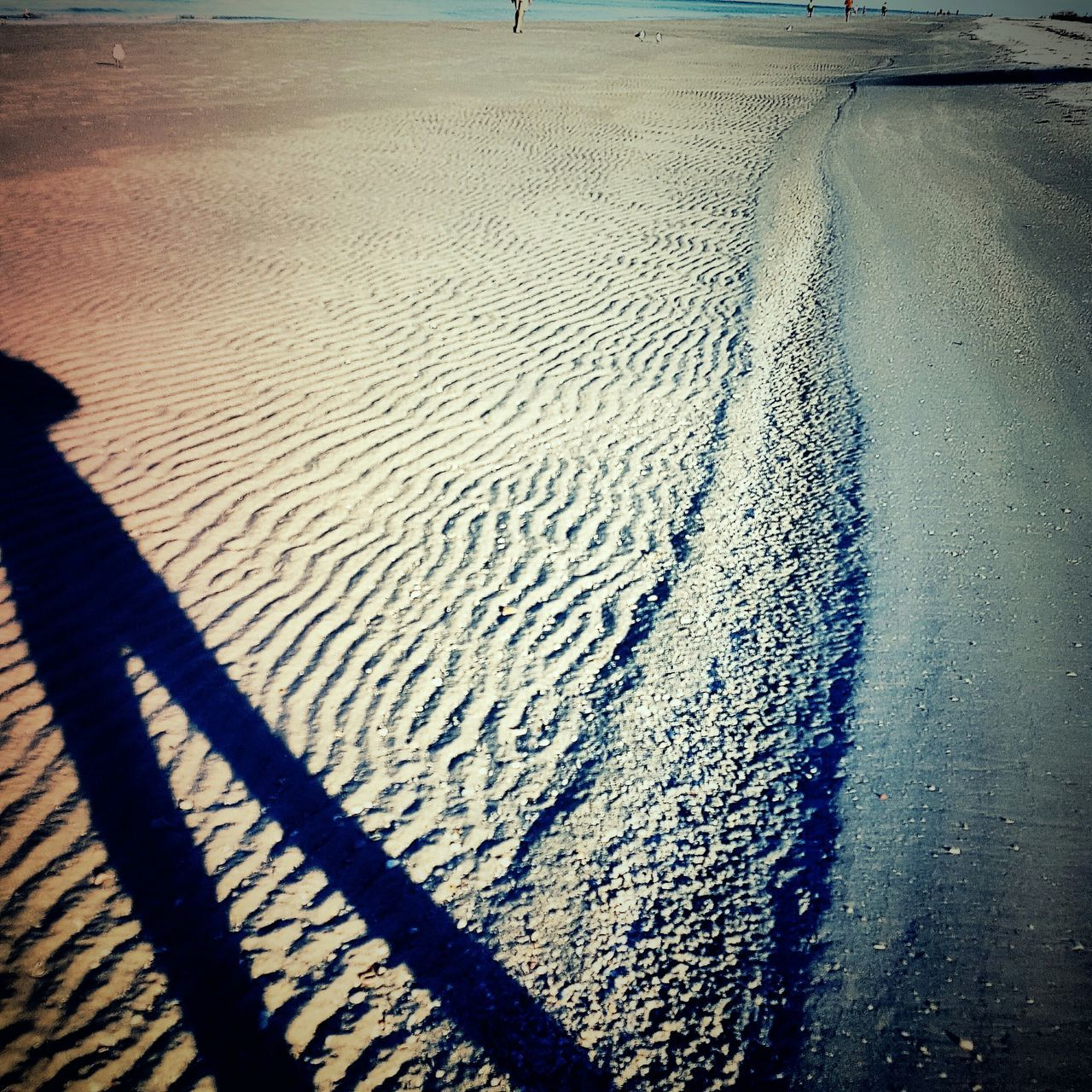 Early morning beach walks are so relaxing!!! Beach Sand Sandripples Shadow Myshadow Nature Sandy Beach Saltlife Florida Life Untouched Better Look Twice The City Light