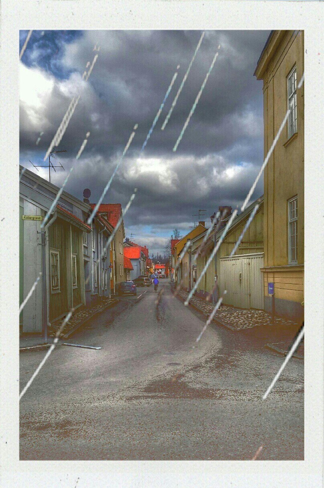 Rainy Days cloud - sky Building Exterior Sky Road Built Structure Streetphotography EyeEm Best Shots Best Of EyeEm Scenics Gripsholm Cold Temperature