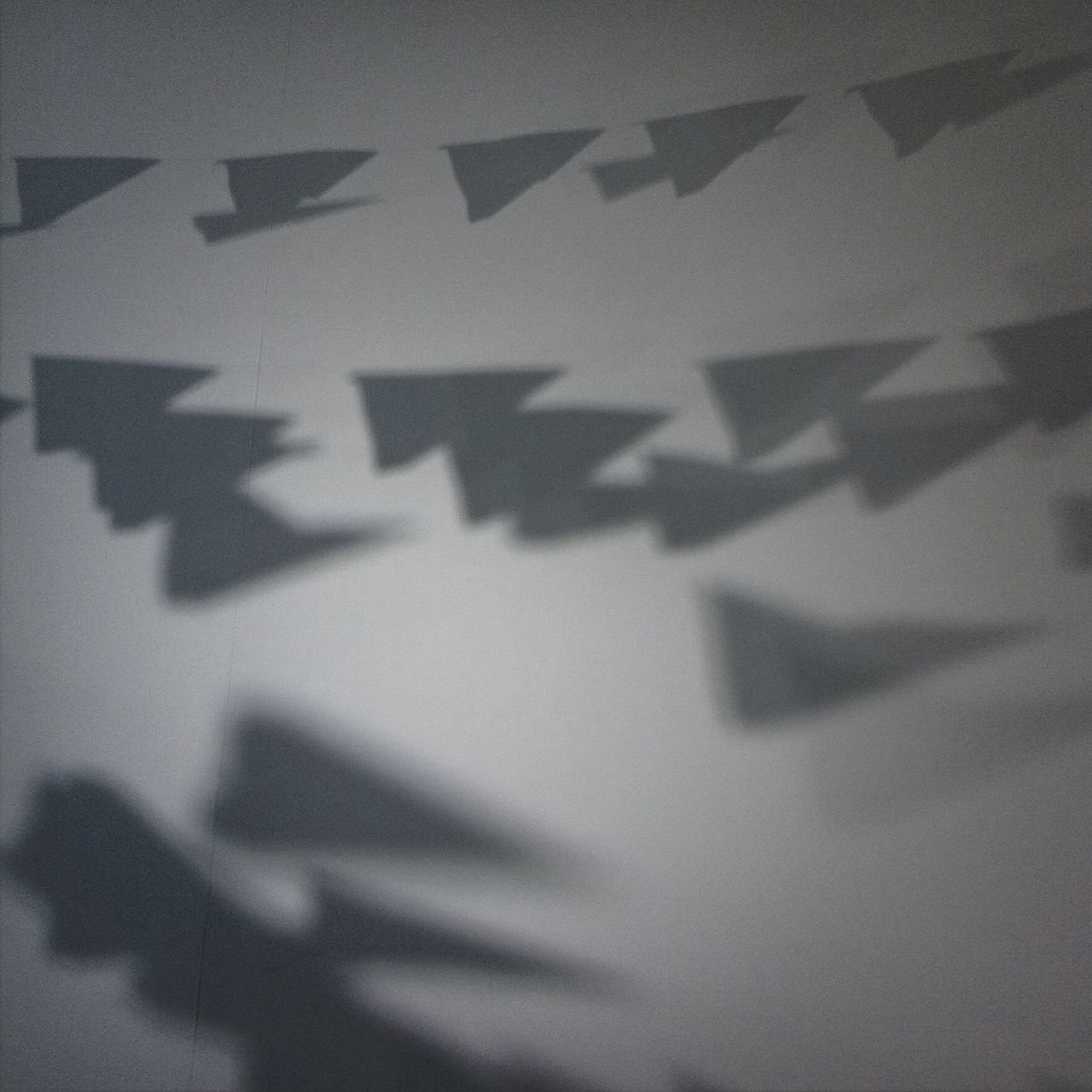 Shadow Paperplanes Black And White Monochrome Shapes
