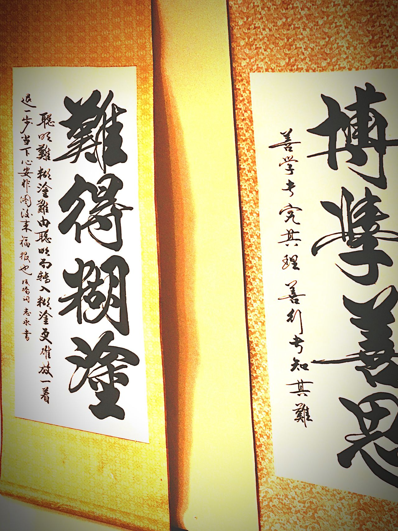Text Calligraphy Chinese Art Wall Scrolls Sayings Communication Indoors
