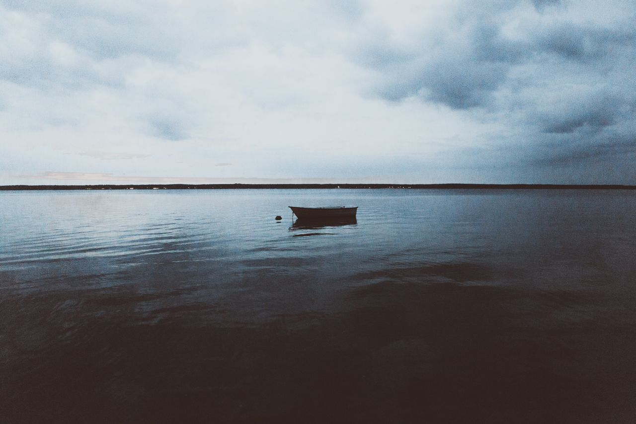 Water Sky Cloud - Sky Nature Tranquility Sea Scenics No People Tranquil Scene Outdoors Waterfront Reflection Beauty In Nature Day Horizon Over Water Nautical Vessel
