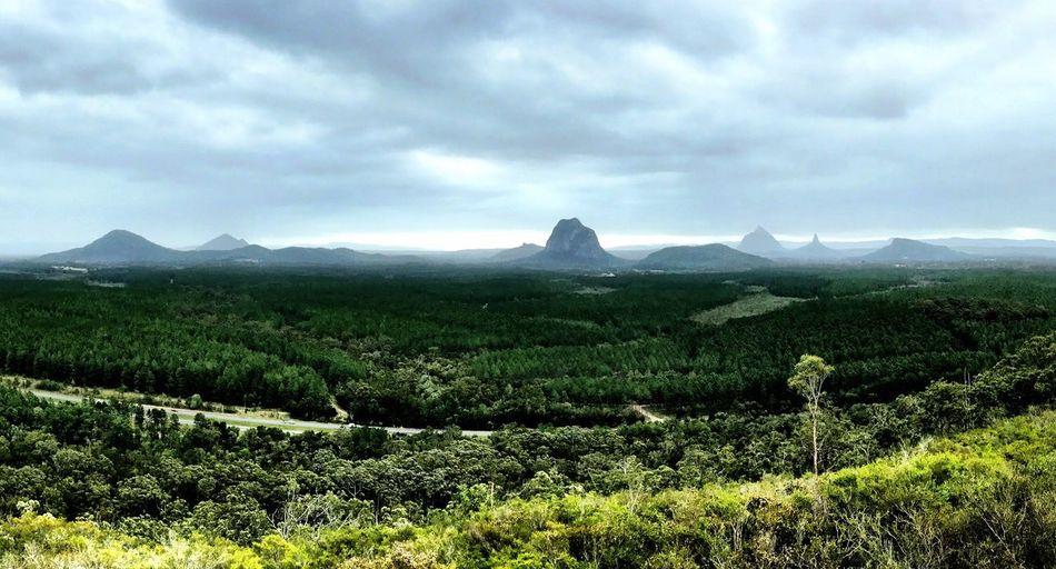 Glasshouse Mountains Scenics Mountain Landscape Cloud - Sky