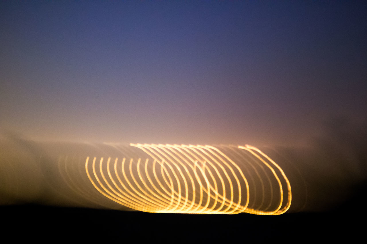 Abstract Circles Landscape Lightpainting Long Exposure Nature No People Outdoors Sky Streak Of Light