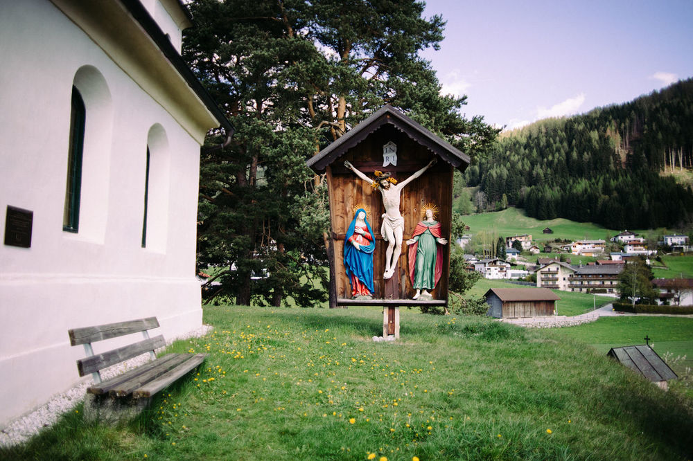 Small Village Holy Shrine Christianity Church Jesus Shrine Small Village