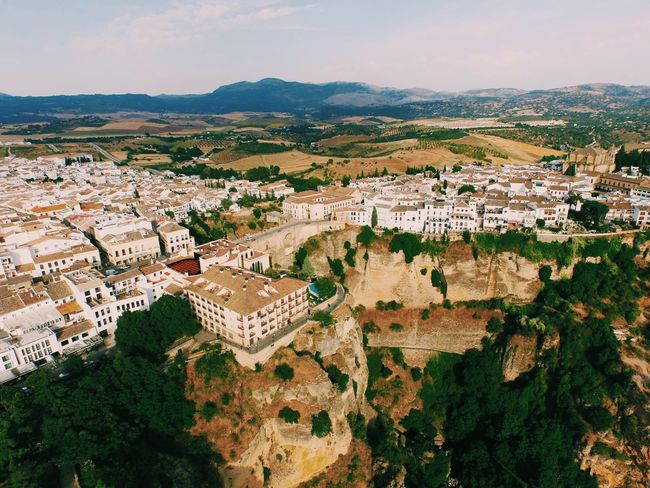 Aerial View Architecture Building Exterior Built Structure City Cityscape Cliff Day Development Drone  Dronephotography Droneshot High Angle View House Outdoors Parador Residential Building Residential District Ronda Ronda Spain Sky Skyview SPAIN Town Travel Destinations