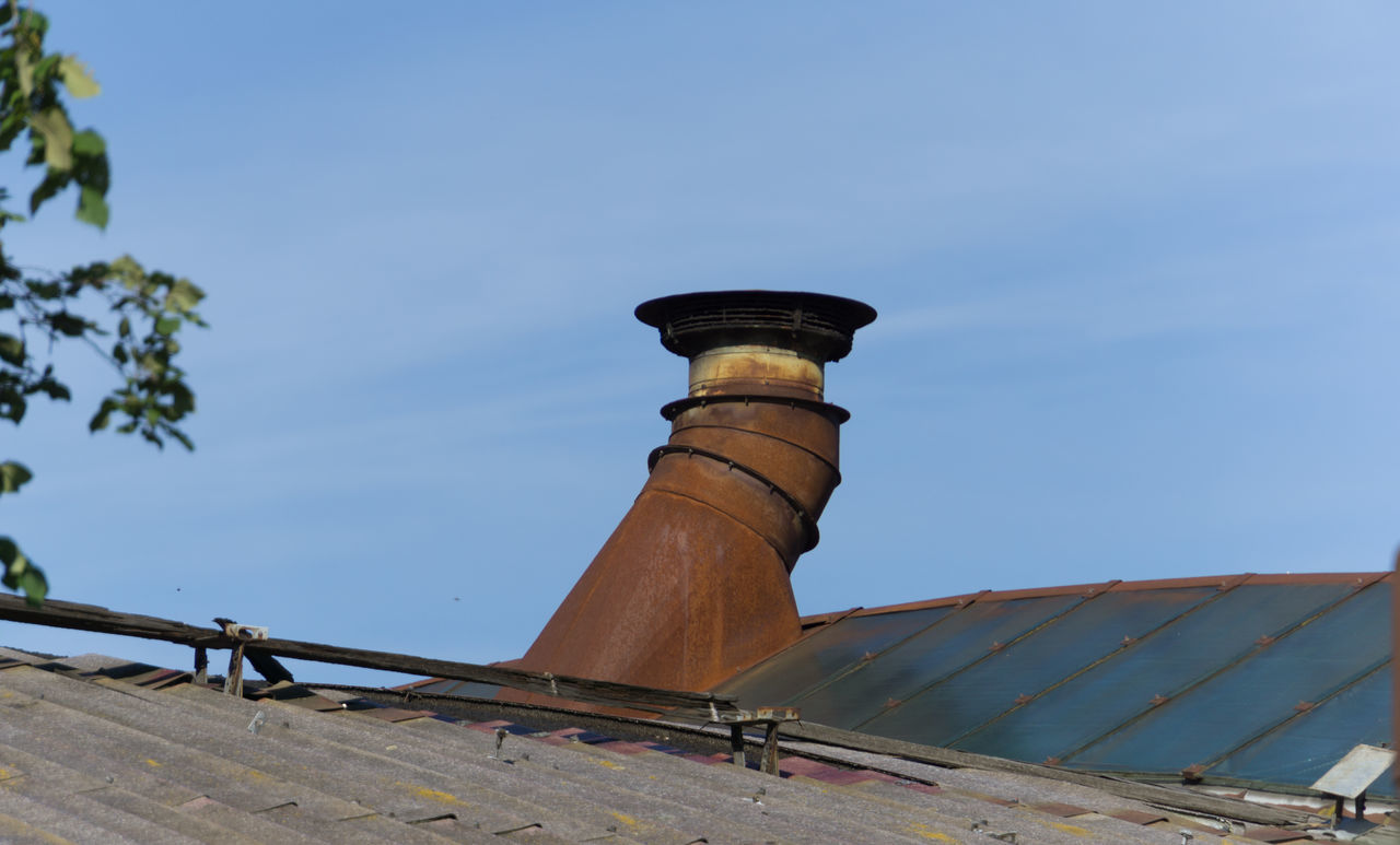 Chimney Smokestack Day Factory Glass Glass Roof Historic Monument No People Old Outdoors Roof Rust Rusty Sky Warehouse