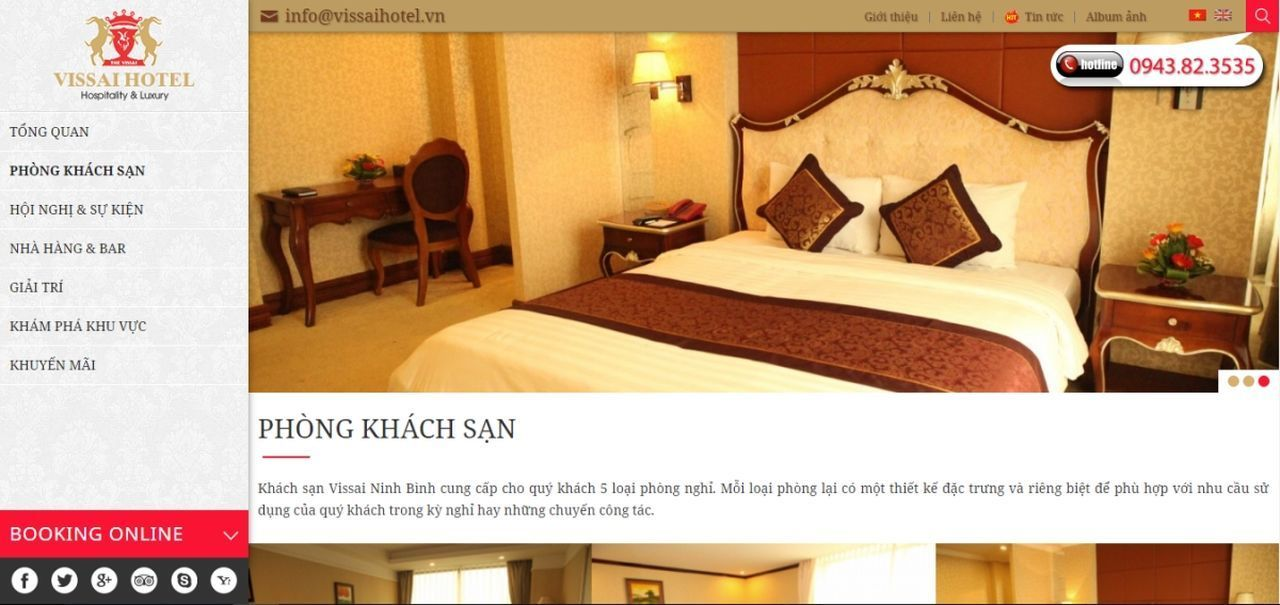 Thiết kế website khách sạn chuyên nghiệp để tăng nhận diện thương hiệu, kết nối với khách hàng thuận tiện và phát triển kinh doanh tốt hơn. Thiết Kế Website Thiết Kế Website Khách Sạn