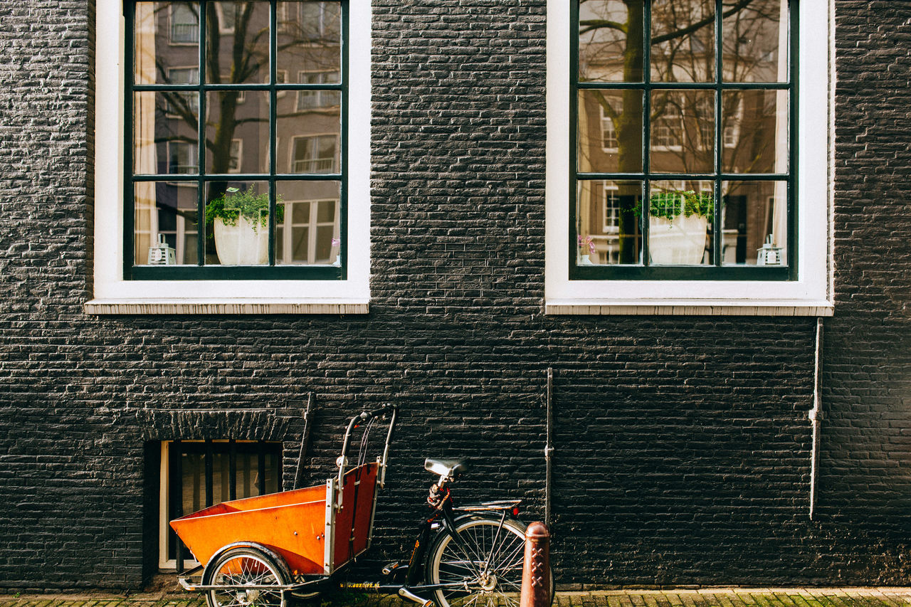 A Wintery Amsterdam ... All Streets Amsterdam Architecture Brick Wall Building Building Exterior Built Structure Closed Day Door Glass - Material House Low Angle View Metal Metal Grate No People Outdoors Railing Residential Building Residential Structure Wall - Building Feature Window Your Amsterdam EyeEm X Google - Your Amsterdam