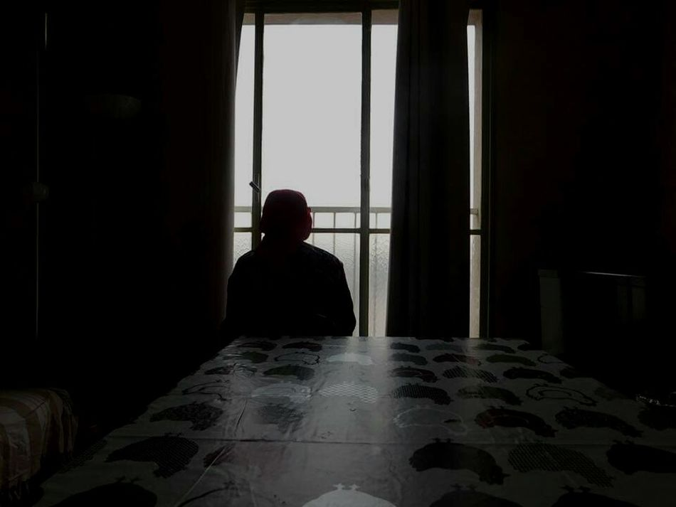 Window Solitude One Person Sitting People Adult Day Picture First Eyeem Photo Back Lit Adults Only Depression - Sadness Indoors  One Man Only Only Men First Eyeem Photo Grandmother Welcome To Black