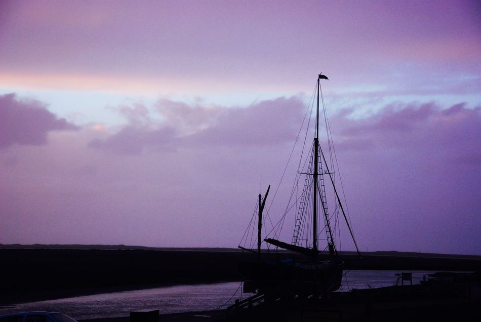 Sky Water Transportation Nature Cloud - Sky No People Outdoors Sea Connection Scenics Beauty In Nature Nautical Vessel Day Tall Ship Juno Barge Sailing Barge