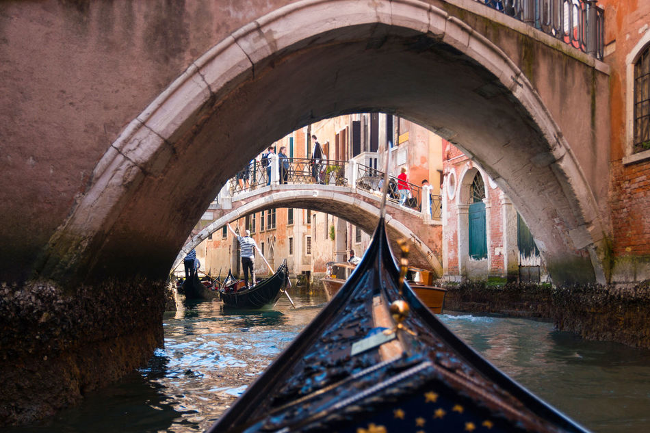 Arch Architecture Bridge - Man Made Structure Built Structure Canal Connection Day Footbridge Gondola - Traditional Boat Italy Nautical Vessel No People Outdoors Reflection Transportation Venice, Italy Water